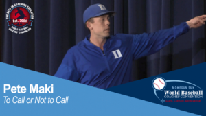 Pete Maki - To Call or Not to Call